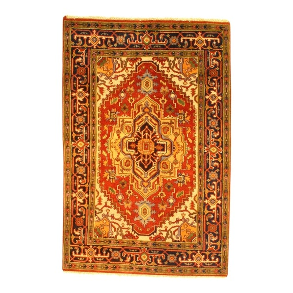 Pasargad NY Handmade Fine Serapi Red Wool Rug