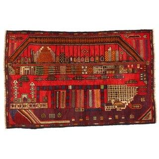 Pasargad NY Handmade Afghan Baluch Red Wool Rug