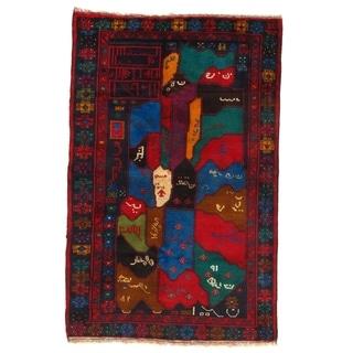 Pasargad NY Handmade Sarouk Design Red/Multicolor Wool Rug