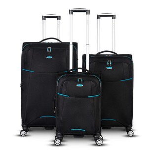 Gabbiano Manchester Collection 3 Piece Spinner Luggage Set