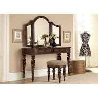 Arbor Place Brownstone Vanity Desk