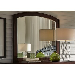 Avalon Dark Truffle Mirror - Brown