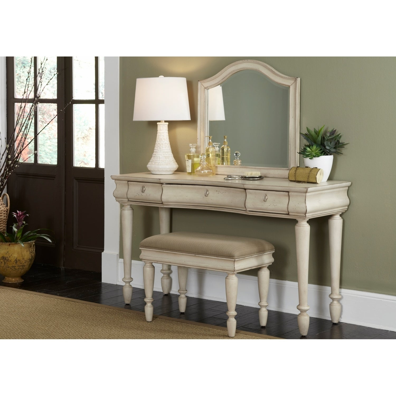 White Vanity Desk With Mirror.Rustic Traditions Ii White Vanity Desk