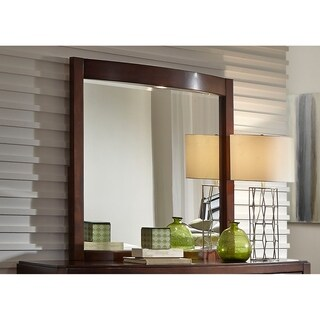 Avalon Dark Truffle Lighted Mirror - Brown