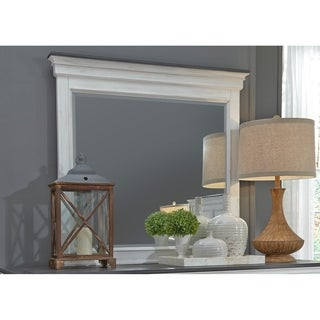 Allyson Park Wire Brushed White Crown Mirror - Brushed White