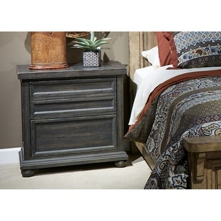 Copper Grove Cannes Chalkboard Nightstand with Charging Station