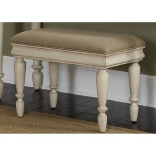 Rustic Traditions II White Vanity Stool