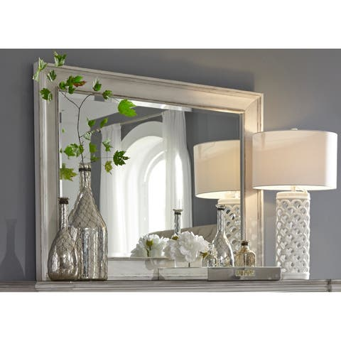 The Gray Barn Bevers Bay Antique White Mirror