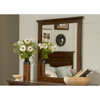 Laurel Creek Cinnamon Landscape Mirror - Brown