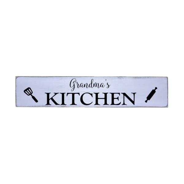 Grandma's Kitchen Handmade Farmhouse Wall Art Wood Sign 10 in x 48 in