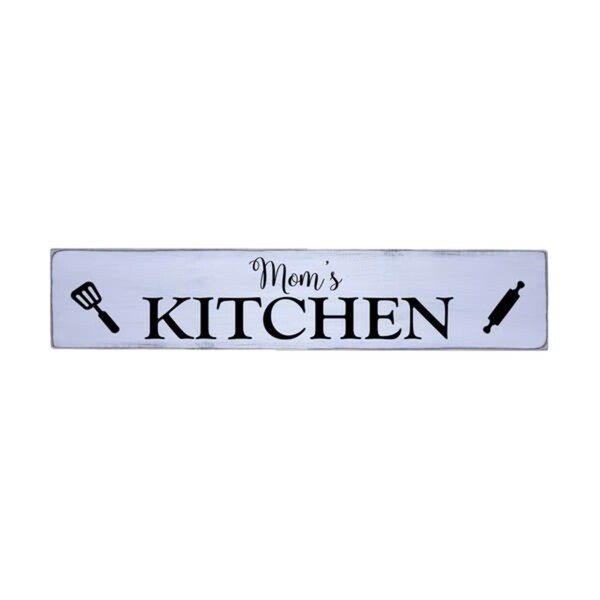 Mom's Handmade Farmhouse Style Wall Art Wood Sign 10 in x 48 in