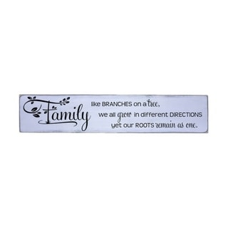 Family Like Branches Handmade Farmhouse Wall Wood Sign 10 in x 48 in