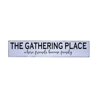 Gathering Place Handmade Farmhouse Wall Art Wood Sign 10 in x 48 in