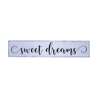 Sweet Dreams m Handmade Farmhouse Wall Art Wood Sign 10 in x 48 in