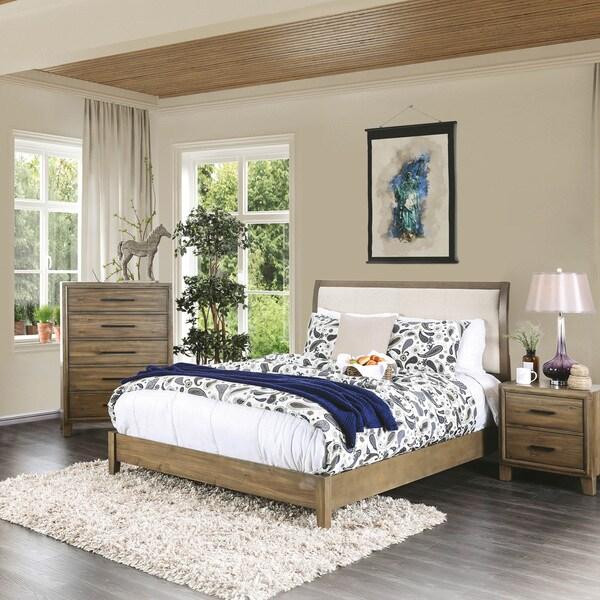 Shop Furniture Of America Cody Rustic Light Oak Platform