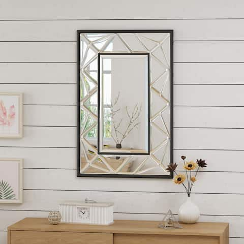 Avita Glam Wall Mirror by Christopher Knight Home - Clear - N/A