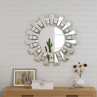 Tamina Glam Sun Burst Wall Mirror by Christopher Knight Home