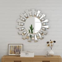 Tamina Glam Sun Burst Wall Mirror by Christopher Knight Home - N/A