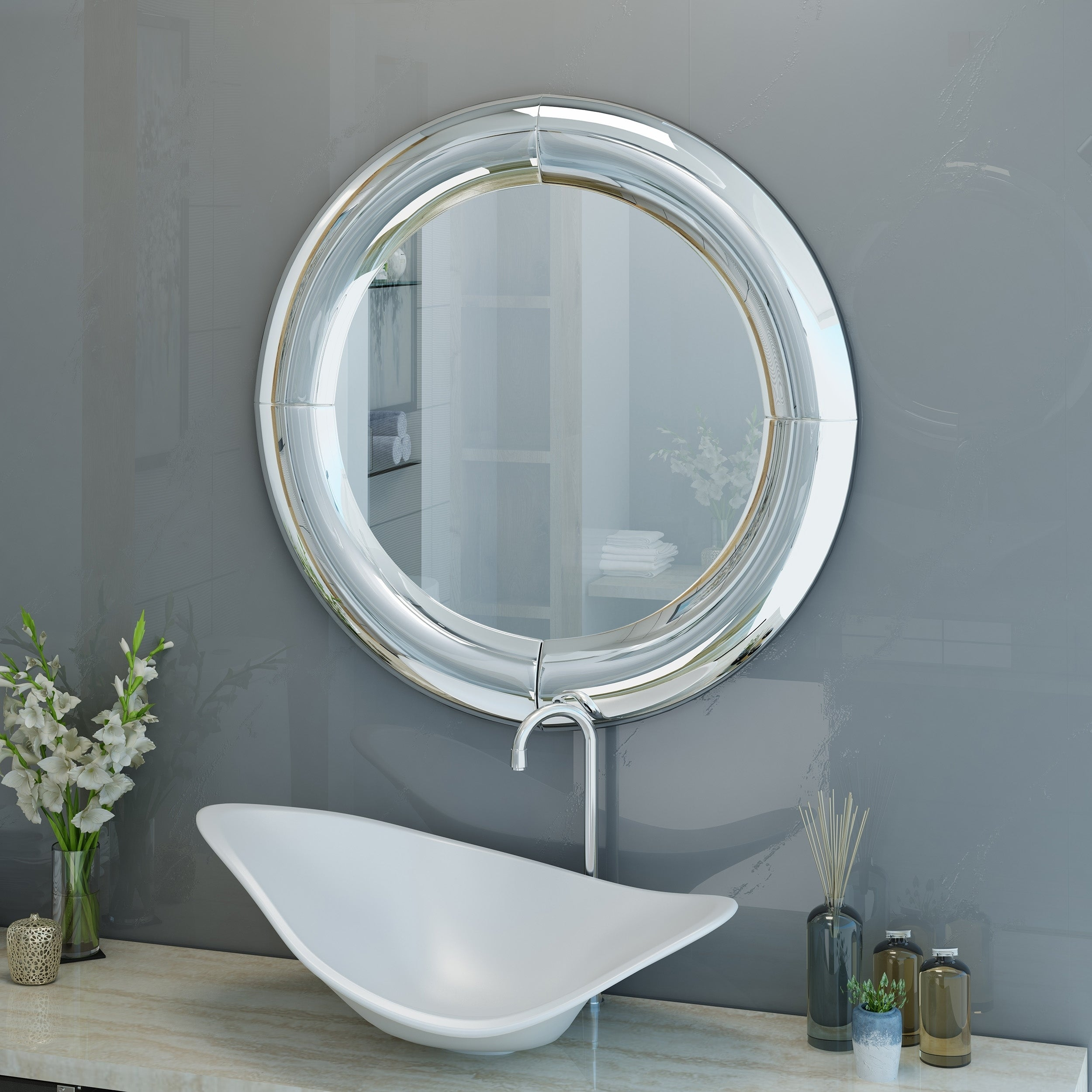 Christopher Knight Home 304974 Faron Wall Mirror Clear