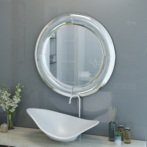 Faron Glam Wall Mirror by Christopher Knight Home - Clear