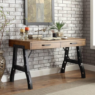 Furniture of America Dayne Industrial Style 2-drawer Desk
