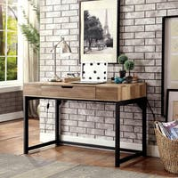 Furniture of America Chatsworth Industrial Style USB Desk