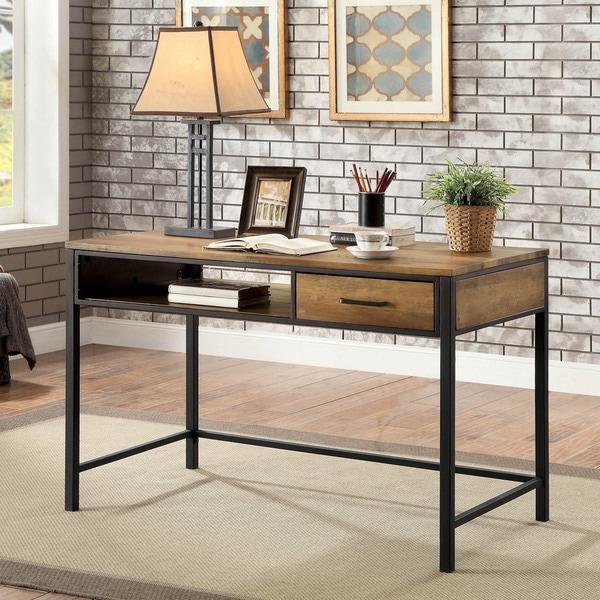 Shop Furniture of America Jaxton Industrial Style Desk ...