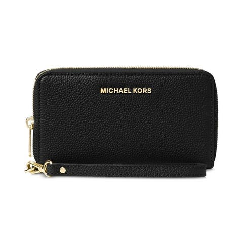 MICHAEL Michael Kors Mercer Large Flat Multi Function Phone Case Black