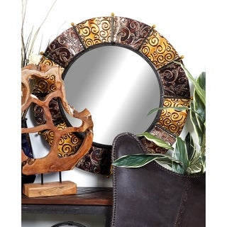 The Curated Nomad Lotta Decorative Metal Mirror