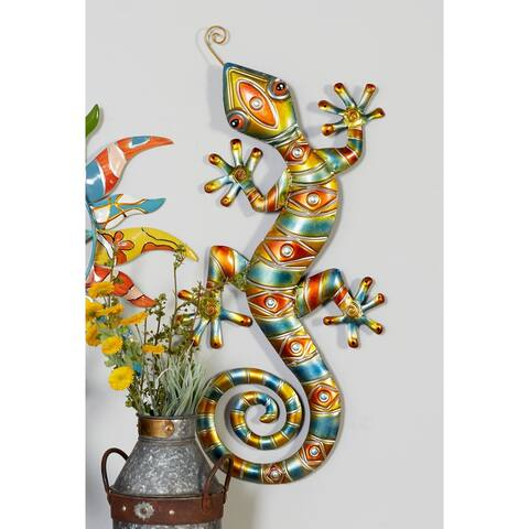 The Curated Nomad Merced Multicolor Gecko Wall Sculpture