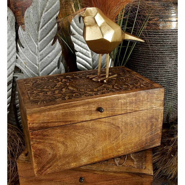 The Curated Nomad Belli Set of Wood Boxes (Set of 3)