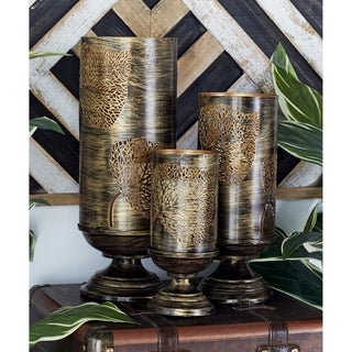The Curated Nomad Lotta Set of 3 Metal Candle Holders