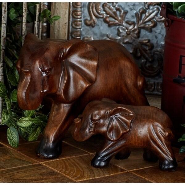 The Curated Nomad Merced Ceramic Elephant Set (Set of 3)
