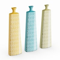 Strick & Bolton Dinah 3-piece Multi-colored Ceramic Vase Set