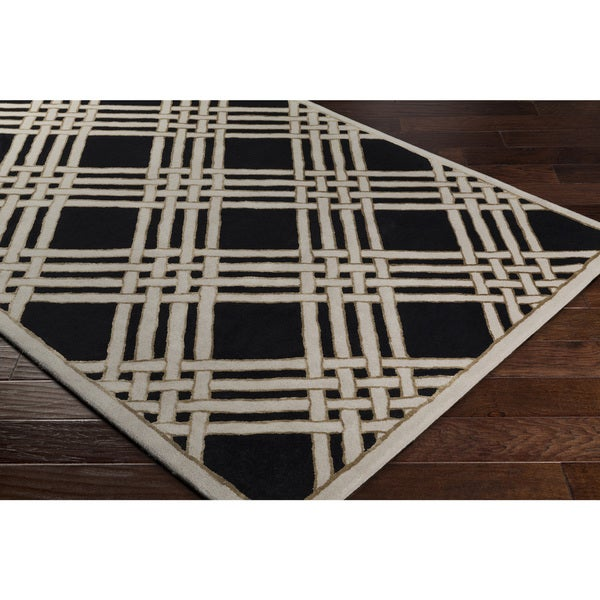 Carson Carrington Nyksund Hand-Tufted Geometric Wool Area Rug