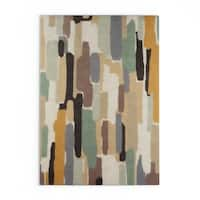 Strick & Bolton Sherrill Hand-Tufted Grey Wool Area Rug