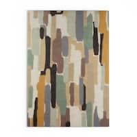 Strick & Bolton Sherrill Hand-Tufted Grey Wool Area Rug - 8' x 10'