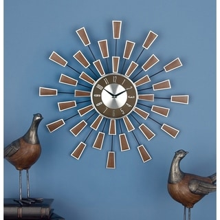 Link to Carson Carrington Orivesi 22-inch Metal Wall Clock Similar Items in Decorative Accessories
