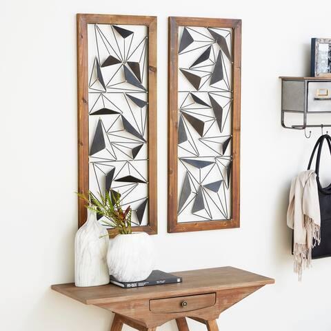 Carson Carrington Orivesi 2-piece Wood Metal Wall Decor Set