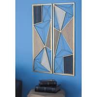 "Strick & Bolton Sinatra 2-piece Metal Wood Wall Plaque Set - (12""x35"")"