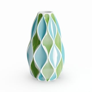 The Curated Nomad Dinah Modern Ceramic Abstract Bud Vase