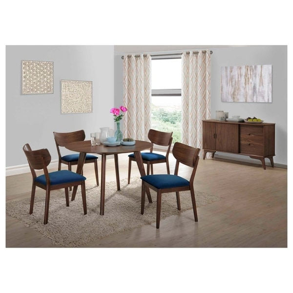 Picket House Furnishings Rosie 7PC Dining Set w/ Navy Blue Chairs