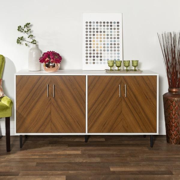 Carson Carrington Cassandra 58-inch Modern Teak Buffet - 58 x 16 x 30H