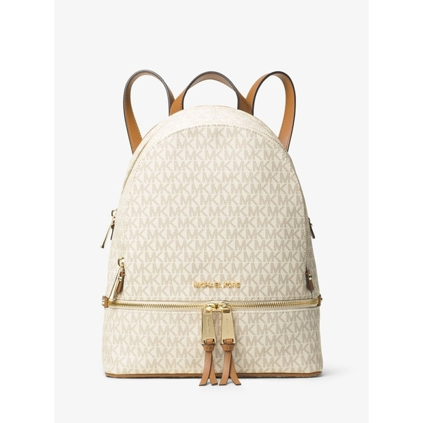 89f0315d4493 Shop MICHAEL Michael Kors Signature Rhea Zip Medium Backpack - Free ...
