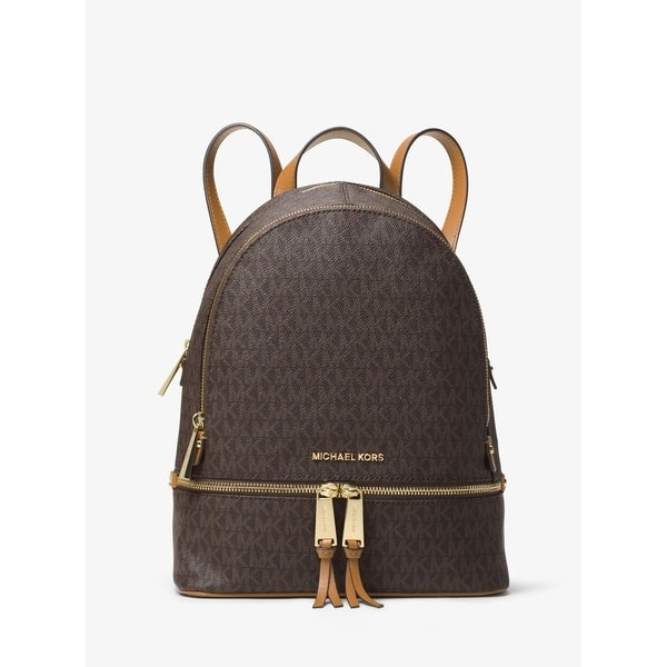 fb77d7831ca2 Shop MICHAEL Michael Kors Rhea Signature Medium Backpack Brown ...