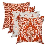 Square Printed Cotton Cushion Cover 18x18 in Rust color