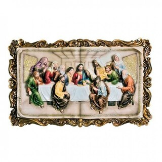 Homili Novelty Last Supper Plaque, Multicolor
