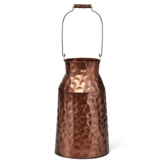 Fun Add-on Wrought Iron Hammered Milk Can, Copper
