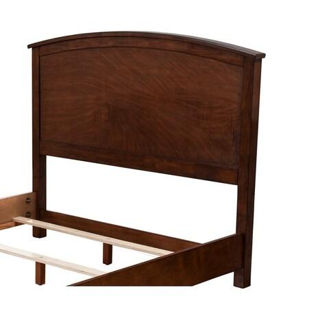 Mahogany Wood Standard King Headboard Only, Brown