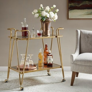 Madison Park Atlantis Gold Bar Cart